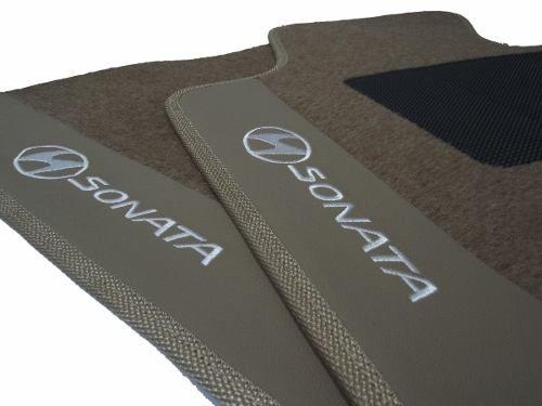 Tapete Hyundai Sonata Carpete Luxo Base Pinada