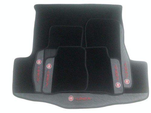 Kit De Tapetes Assoalho Luxo+ Porta Malas Fiat Linea