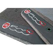 Tapete Fiat 500c Carpete Premium  Base Pinada