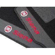 Tapete Fiat Siena Carpete Luxo Base Borracha Pinada Hitto