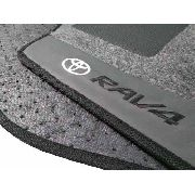 Tapete Toyota Rav4 2014/... Carpete Luxo Base Borracha Pinada