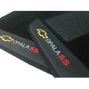 Jogo Tapete Carpete Opala Ss Preto Carpete Luxo Original Hitto