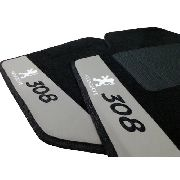 Tapete Peugeot 3008 Personalizado Carpete Luxo  Base Pinada