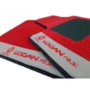 Tapete Renault Logan Borracha Pvc Com Base Pinada Hitto