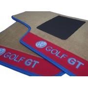 Tapete Vw Gol Gts Quadrado Carpete Premium Base Pinada