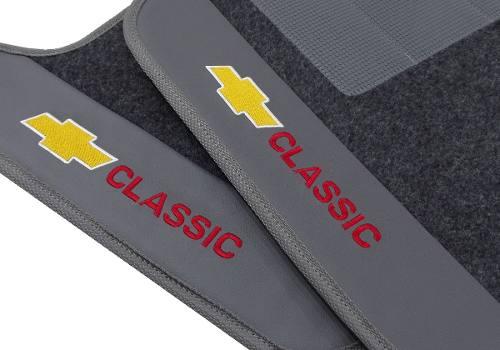 Tapete Chevrolet Classic Carpete Luxo Base Pinada