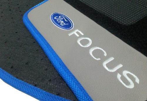 Kit Tapete Assoalho + Porta Malas Ford Focus  Luxo