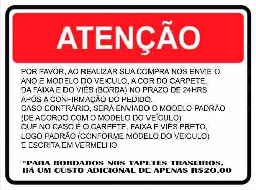 Tapete Vw Fox Rock In Rio Carpete Luxo Base Borracha Pinada