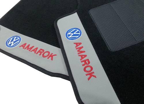 Tapete Amarok Cab. Dupla Carpete Luxo Base Pinada- Hitto