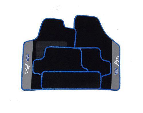 Tapete Ford Ka 2008/2014 Carpet Luxo Base Borracha Pinada