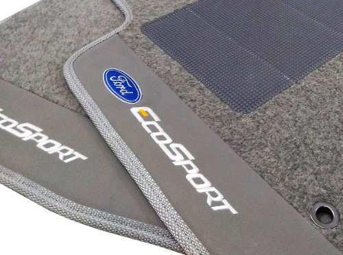 Tapete Ford Ecosport Titanium Carpete Luxo Com Base Pinada