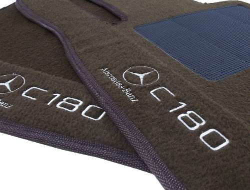 Tapete Mercedes C 180 Carpete Luxo Base Pinada Hitto