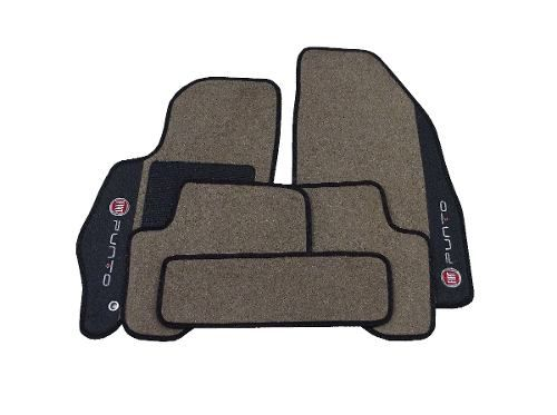 Tapete Carpete Fiat Punto Luxo Carpete Base Pinada