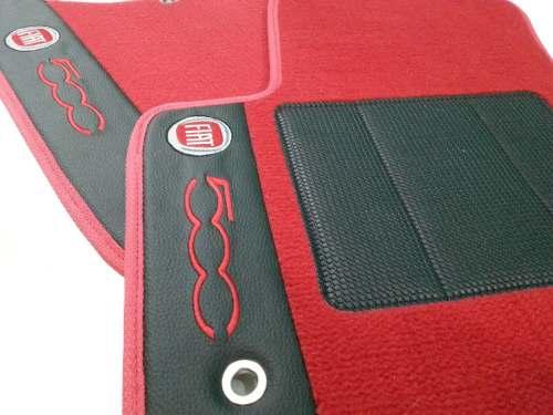 Tapete Fiat 500 Carpete Premium  Base Borracha Pinada