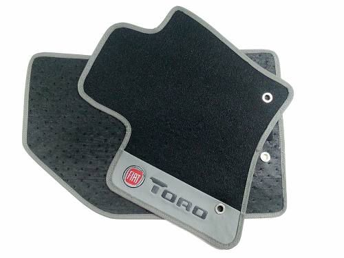 Tapete Fiat Toro Borracha Pvc Base Pinada Hitto