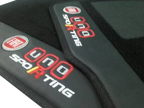 Tapete Fiat Uno Sporting Carpete Luxo Base Pinada