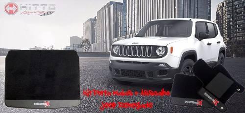 Kit Assoalho+ Porta Malas Jeep Renegade Carpete Luxo