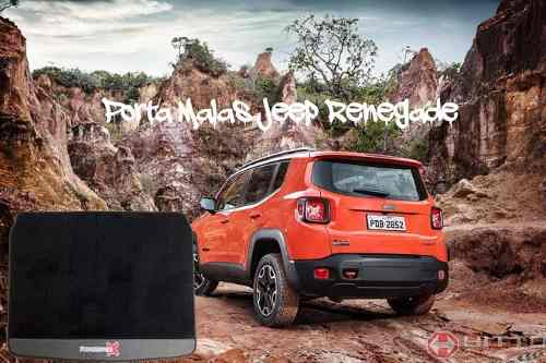 Tapete Jeep Renegade Carpete Luxo Base Borracha Porta Malas