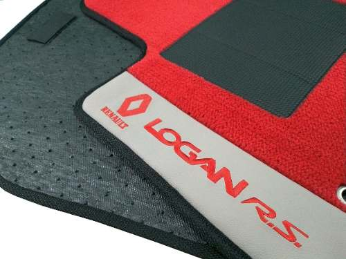 Tapete Renault Logan 2014/... Carpete Luxo Base Pinada