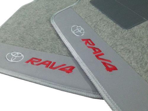 Tapete Toyota Rav4 2014/... Carpete Luxo Base Borracha Pinada