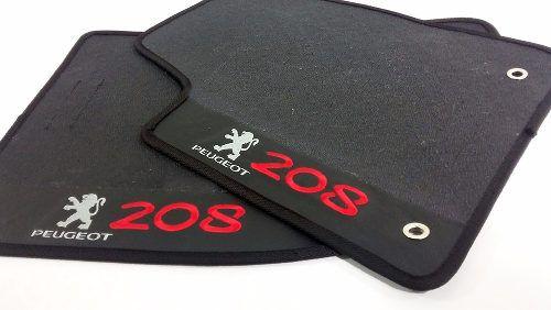 Tapete Peugeot 207 Carpete marrom Luxo Base Borracha Pinada