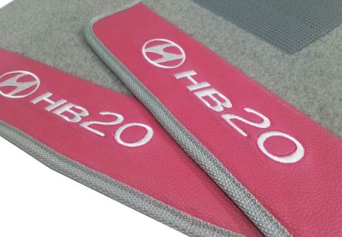 Tapete Carpete Hyundai Hb20 Luxo Base Pinada
