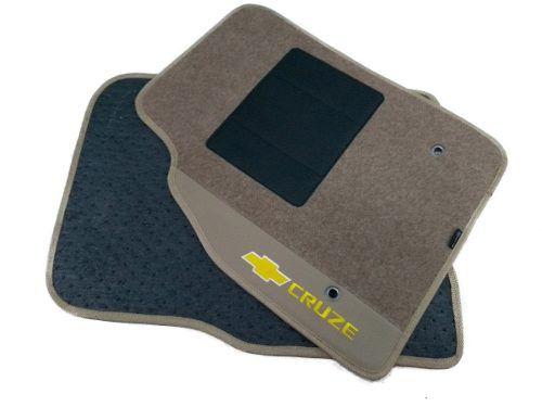 Kit Assoalho+ Porta Malas Gm Cruze Carpete Luxo Base Pinada
