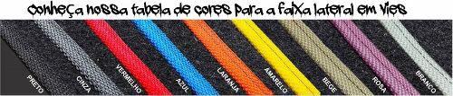 Tapete Jeep Troller Carpete Luxo Base Borracha Pinada