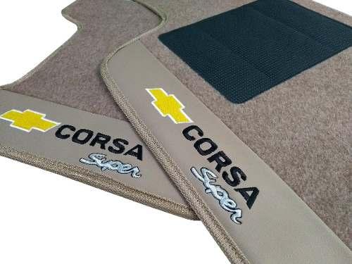 Tapete Chevrolet Corsa Super Carpete 8mm Base Pinada Hitto