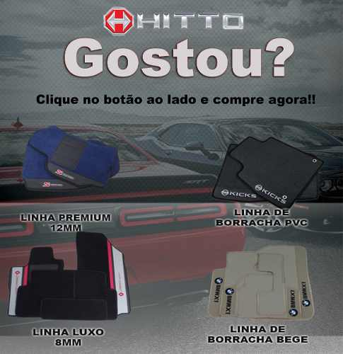 Kit Assoalho + Porta Malas Tapete Omega Luxo