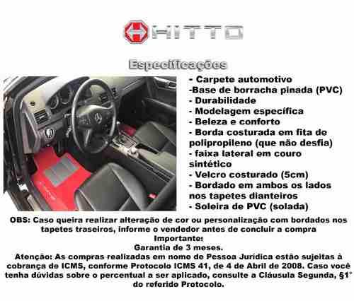 Kit Tapete Captur Carpete Luxo Base Borracha Pinada Hitto