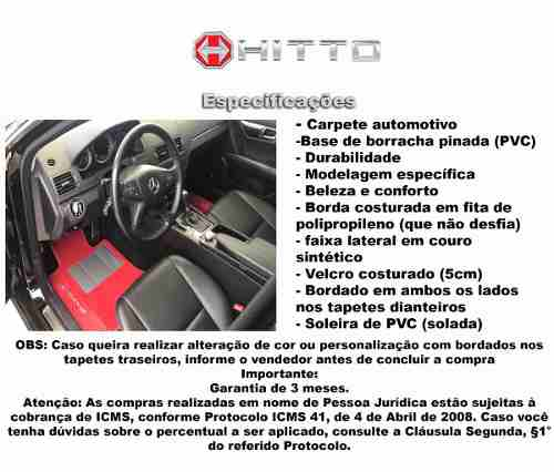 Kit Assoalho+ Porta Malas Citroen Cactus Carpete 8mm Hitto!!