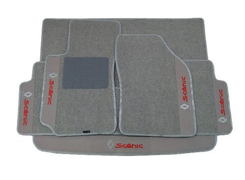 Kit Assoalho+Porta Malas Renaul Scenic Carpete Luxo
