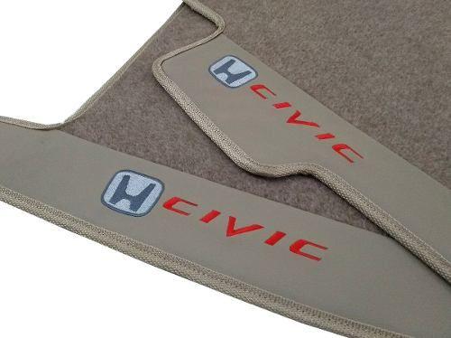Tapete Honda Civic Carpete 8mm Base Pinada Hitto!