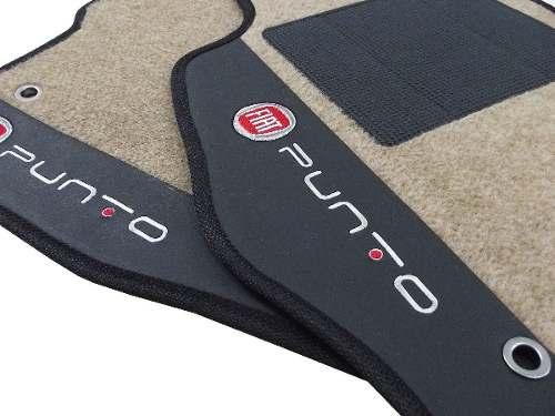 Tapete Fiat Punto Carpete 8mm Base Pinada