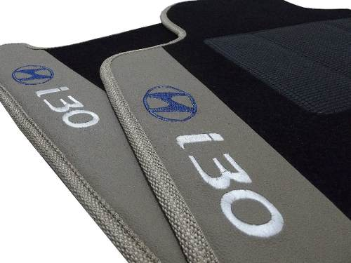 Tapete Hyundai I30 Original Carpete Luxo Base Pinada
