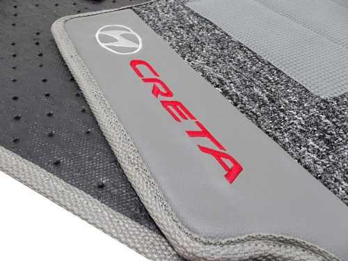 Tapete Hyundai Creta Carpete Premium 12mm Base Pinada