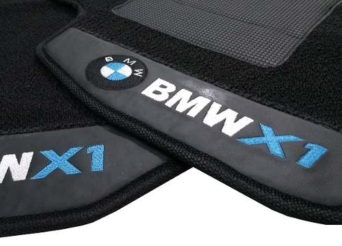 Tapete carpete Bmw X1 12MM Premium Borracha Base Pinada