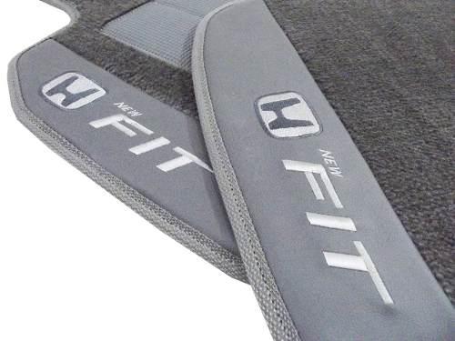 Tapete Honda New Fit Carpete Linha Premium 12mm Base pinada