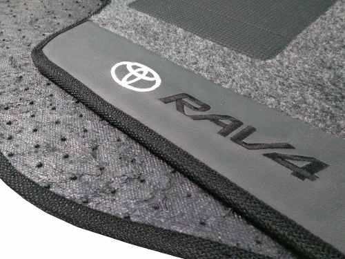 Tapete Toyota Rav4 Carpete 8mm Base Borracha Pinada