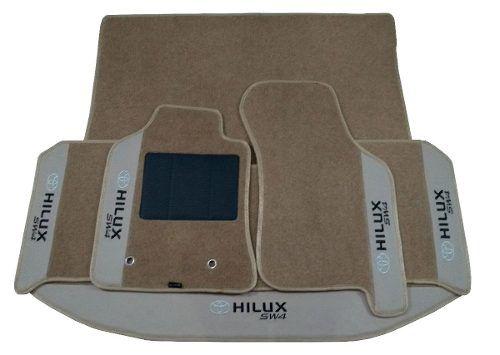Kit Sw4 Assoalho+ Porta Malas Carpete 8mm Base Pinada Hitto