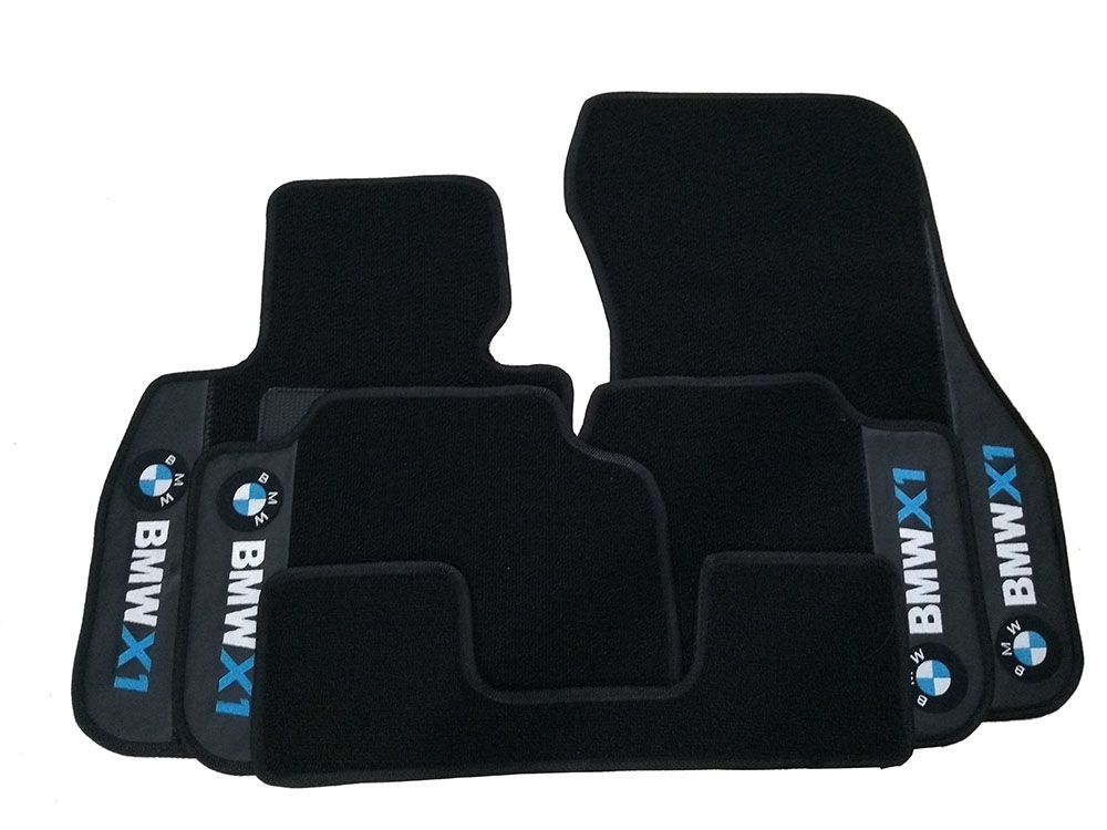 Tapete carpete Bmw X1  Premium Borracha Base Pinada