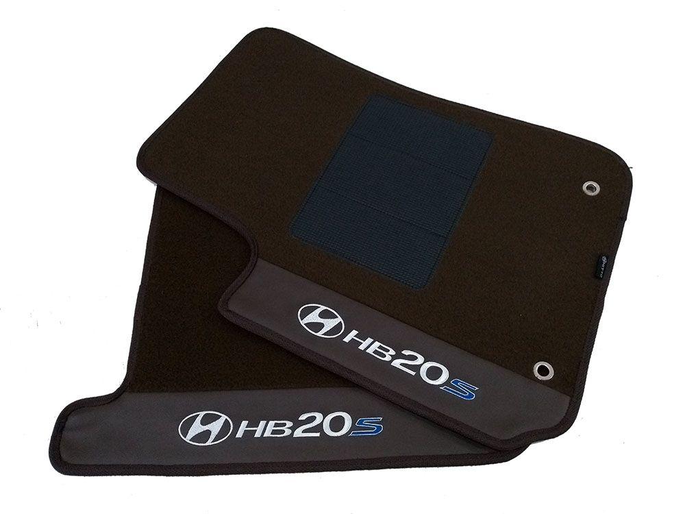 Tapete Carpete Hyundai HB20S 12mm Bouclê  Premium Base Pinada