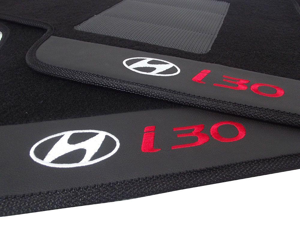 Tapete Carpete Hyundai I30  Premium Borracha Base Pinada