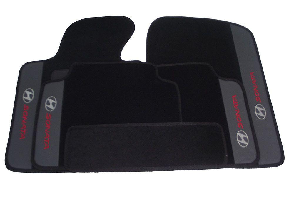 Tapete Carpete Hyundai Sonata Premium Borracha Base Pinada