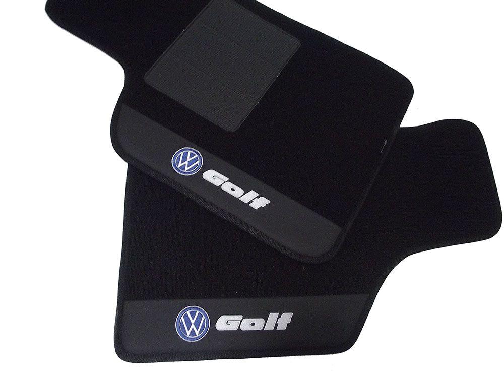 Jogo de Tapetes Hitto Volkswagen Golf Carpete Luxo Premium base pinada