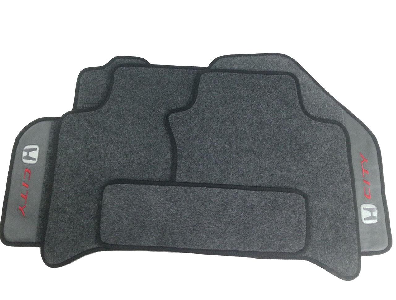 Jogo de Tapetes Honda City Carpete Premium Base Pinada