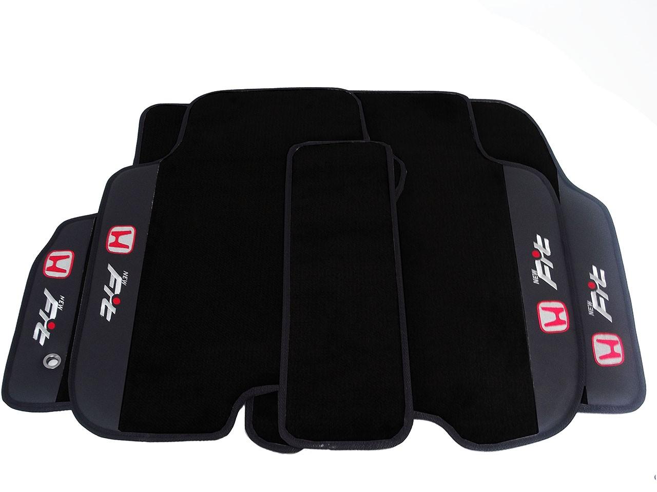Jogo de Tapetes Honda New Fit Luxo Base Pinada