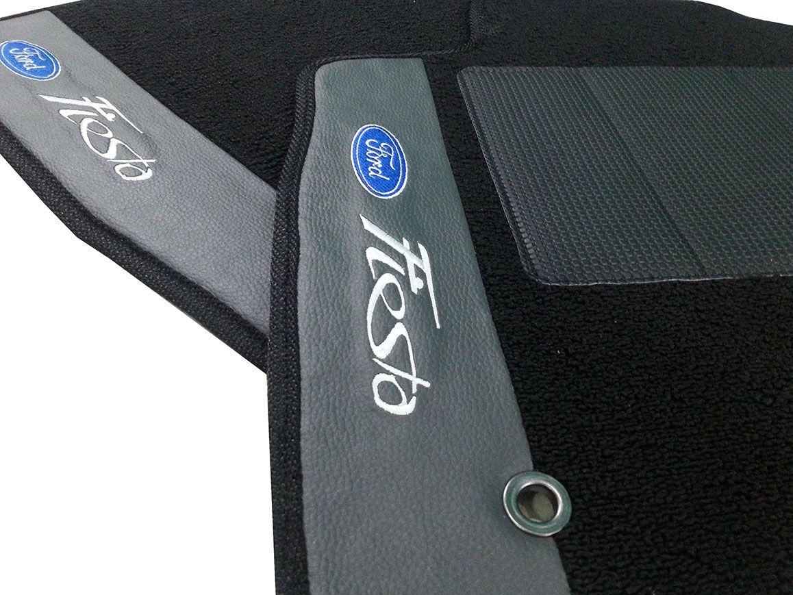 Kit Assoalho+ Porta Malas Ford Fiesta Carpete Luxo Base Pina