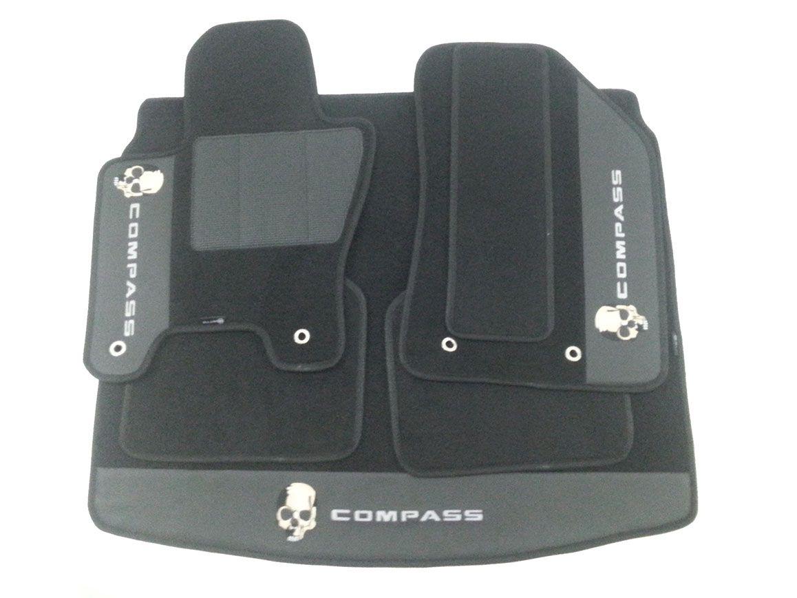 Kit Assoalho+porta Malas Jeep Compass Carpete Luxo